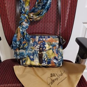 Patricia Nash Crossbody Purse Scarf Hand Signed